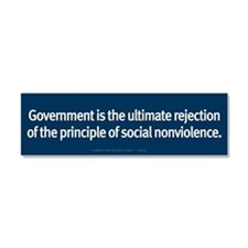 Rejection of Nonviolence Car Magnet 10 x 3