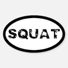 Squat Sticker (Oval)