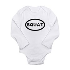 Squat Long Sleeve Infant Bodysuit