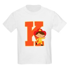 Letter K Firefighter Monogram T-Shirt