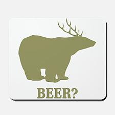 Beer Deer Bear Mousepad