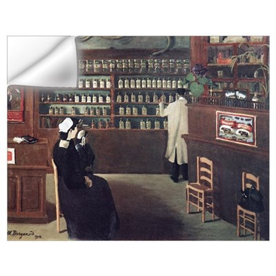 The Pharmacy, 1912 artwork Wall Decal