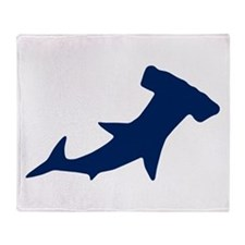 Hammer Head Shark Throw Blanket