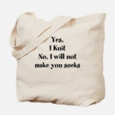 Cool Sock knitting Tote Bag