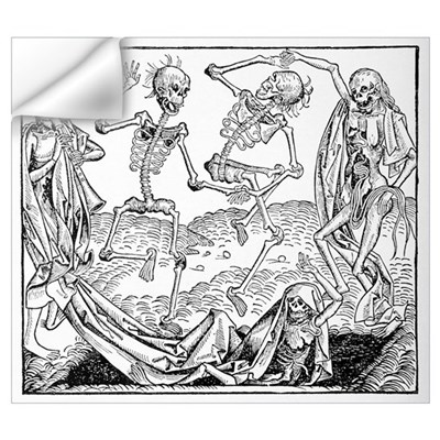 The Dance of Death, allegorical artwork Wall Decal