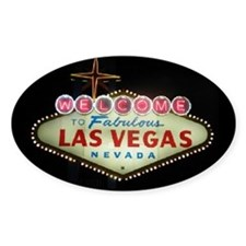 Las Vegas Sign Nighttime Oval Decal