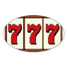 Las Vegas Triple 777 Oval Decal