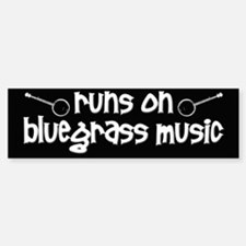 Bluegrass Music Bumper Bumper Sticker