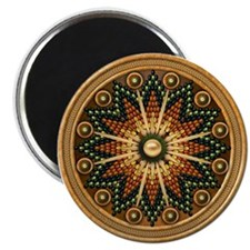 "Native American Rosette 01 2.25"" Magnet (10 pack)"