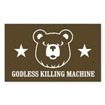 Bears: Godless killing machin Sticker (Rectangular
