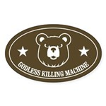 Bears: Godless killing machin Oval Sticker