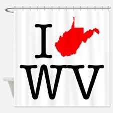 I Love WV West Virginia Shower Curtain