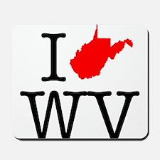 I Love WV West Virginia Mousepad