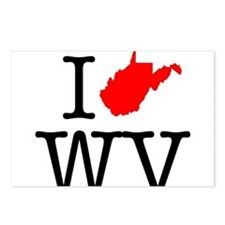 I Love WV West Virginia Postcards (Package of 8)