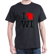 I Love WI Wisconsin T-Shirt