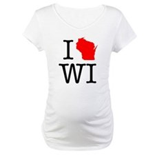 I Love WI Wisconsin Shirt