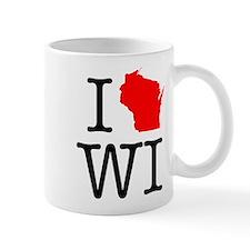 I Love WI Wisconsin Mug