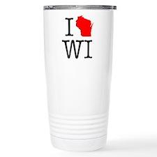 I Love WI Wisconsin Travel Mug