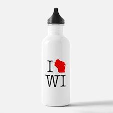 I Love WI Wisconsin Water Bottle