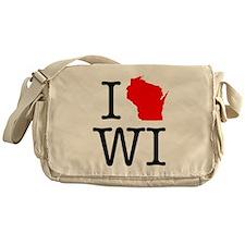 I Love WI Wisconsin Messenger Bag