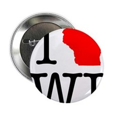 "I Love WI Wisconsin 2.25"" Button"