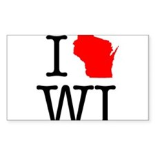 I Love WI Wisconsin Decal