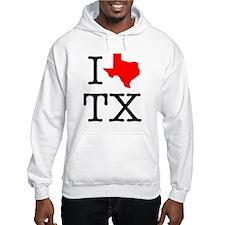 I Love TX Texas Hoodie