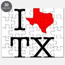 I Love TX Texas Puzzle