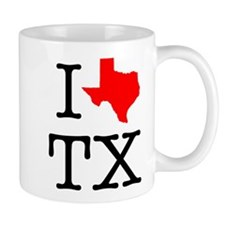 I Love TX Texas Mug