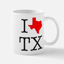 I Love TX Texas Mug
