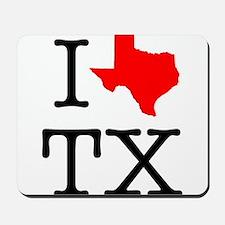 I Love TX Texas Mousepad