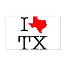 I Love TX Texas Car Magnet 20 x 12