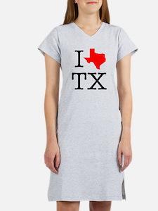 I Love TX Texas Women's Nightshirt