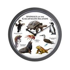 Animals of the Galapagos Islands Wall Clock