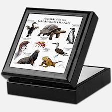 Animals of the Galapagos Islands Keepsake Box