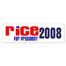 Rice for President 2008 Bumper Bumper Sticker