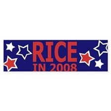 Rice in 2008 Bumper Bumper Sticker