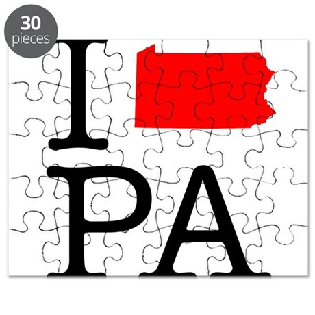 I Love PA Pennsylvania Puzzle