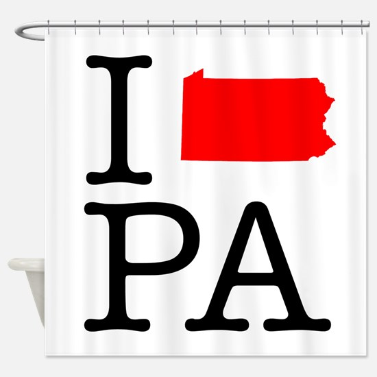I Love PA Pennsylvania Shower Curtain