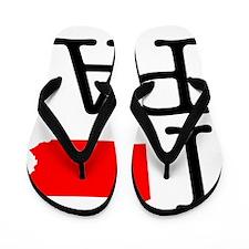 I Love PA Pennsylvania Flip Flops