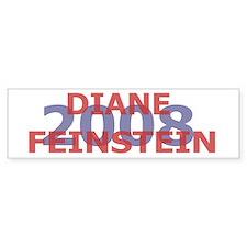 Campaign 2008 Diane Feinstein Bumper Bumper Sticker