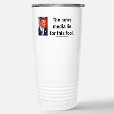 News Media Lies Stainless Steel Travel Mug