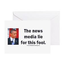 News Media Lies Greeting Card