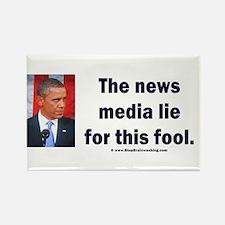 News Media Lies Rectangle Magnet (100 pack)
