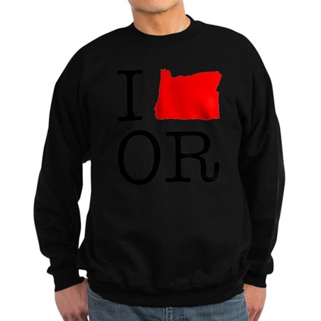 I Love OR Oregon Sweatshirt (dark)