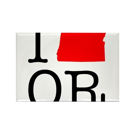 I Love OR Oregon Rectangle Magnet (10 pack)
