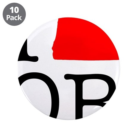 """I Love OR Oregon 3.5"""" Button (10 pack)"""