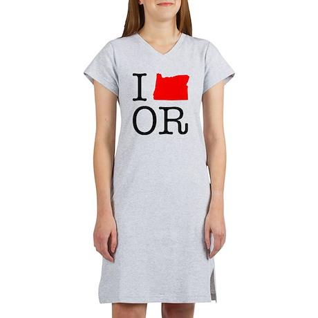 I Love OR Oregon Women's Nightshirt