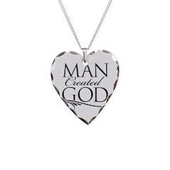 Man Created God Necklace