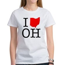 I Love OH Ohio Tee